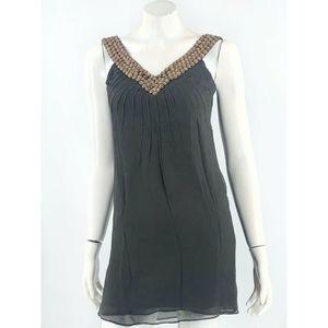 Adam Lippes Sleeveless Silk Dress Size 0 Brown